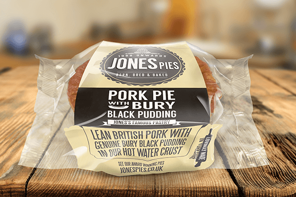 Jones Pies Bury Black Pudding Pork Pie