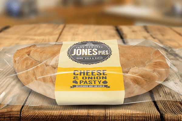Jones Pies Cheese & Onion Pasty