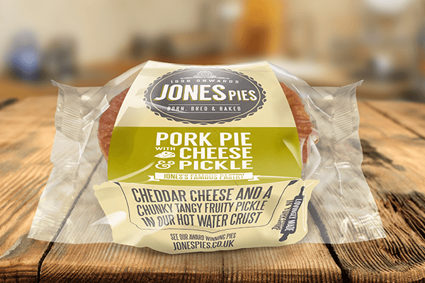 Jones Pies Cheese & Pickle Pork Pie