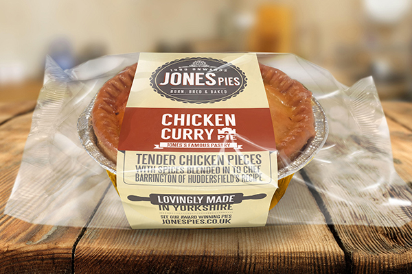 Jones Pies Chicken Curry Hot Pie
