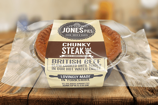 Jones Pies Chunky Steak Hot Pie