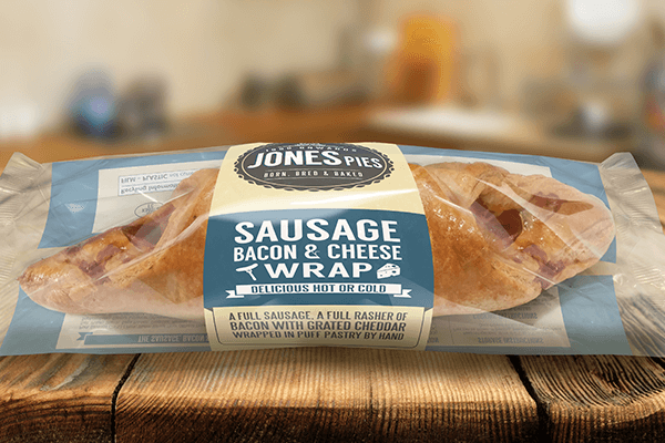 Jones Pies Sausage, Bacon & Cheese Wrap